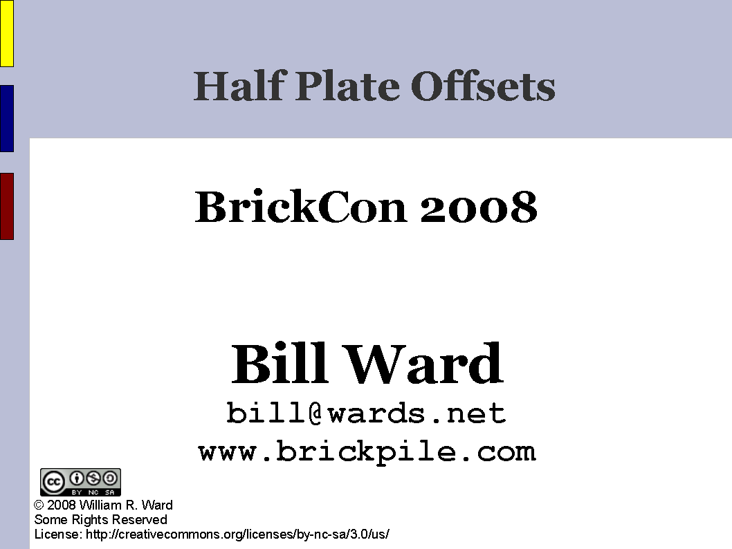 Half Plate Offsets cover slide